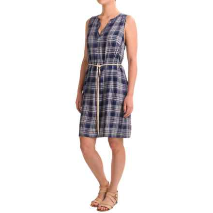 G.H. Bass & Co. Twill Plaid Dress - Rayon, Sleeveless (For Women) in Navy/French Caribbean Blue - Closeouts