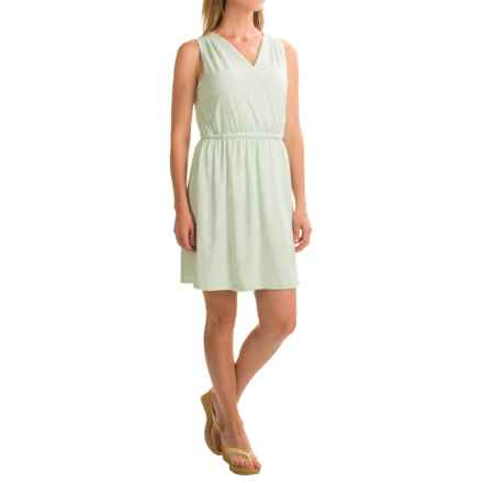 G.H. Bass & Co. Watercolor Stripe Dress - Sleeveless (For Women) in Mint/White - Closeouts
