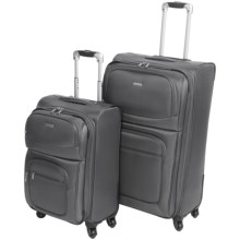 "G.H. Bass & Co. Westport 2-Piece Spinner Suitcase Set - 21"", 29"" in Slate - Closeouts"