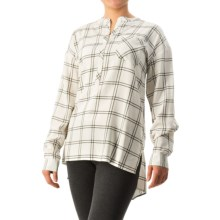 G.H. Bass & Co. Windowpane-Plaid Tunic Shirt - Long Sleeve (For Women) in Ivory Combo - Closeouts