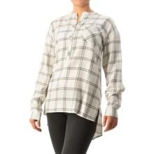 G.H. Bass & Co. Windowpane-Plaid Tunic Shirt - Long Sleeve (For Women) in Ivory Combo - Closeouts