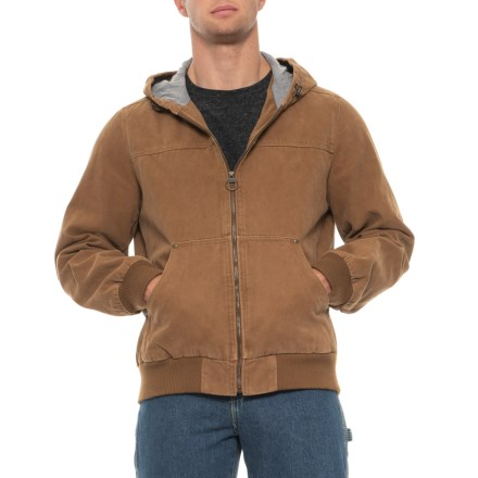 d56b285dd Workwear Canvas Hooded Bomber Jacket (For Men) in Worker