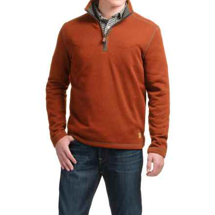 G.H. Bass & Co. Zip Neck Fleece Sweater (For Men) in Arabian Spice Heather - Closeouts