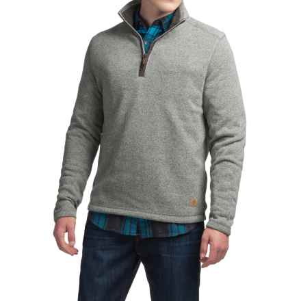 G.H. Bass & Co. Zip Neck Fleece Sweater (For Men) in High Rise Heather - Closeouts