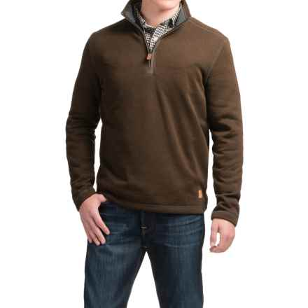 G.H. Bass & Co. Zip Neck Fleece Sweater (For Men) in Slate Black Heather - Closeouts