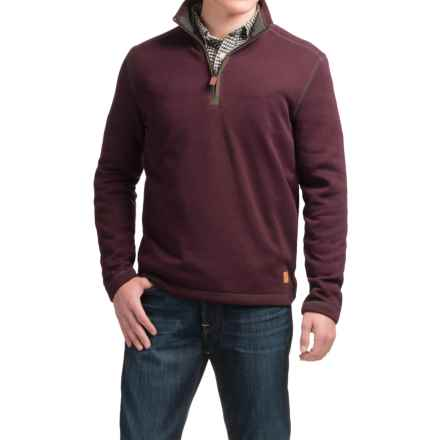G.H. Bass & Co. Zip Neck Fleece Sweater (For Men) in Winetasting - Closeouts