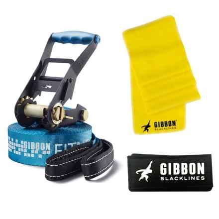 Gibbon Slacklines Fitness Slackline - 49' in Blue - Closeouts