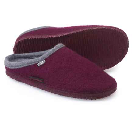 Giesswein Abend Boiled Wool Slippers (For Women) in Bordeaux - Closeouts