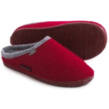 Giesswein Abend Boiled Wool Slippers (For Women) in Red - Closeouts