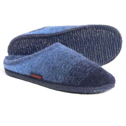 Giesswein Alm Boiled Wool Slippers (For Men and Women) in Jeans - Closeouts