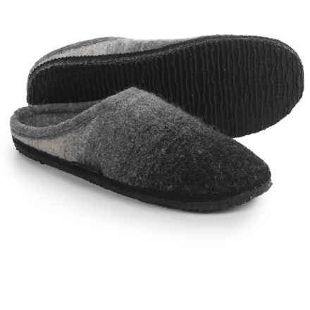 Giesswein Alm Boiled Wool Slippers (For Men and Women) in Slate - Closeouts
