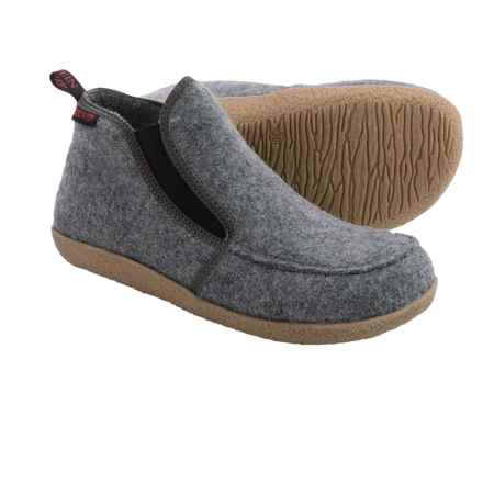 Giesswein Alp Bootie Slippers - Virgin Wool (For Men and Women) in Grey - Closeouts