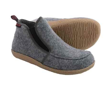 Giesswein Alp Bootie Slippers - Virgin Wool (For Men and Women) in Grey - Closeouts