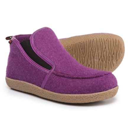 Giesswein Alp Bootie Slippers - Virgin Wool (For Men and Women) in Violet - Closeouts
