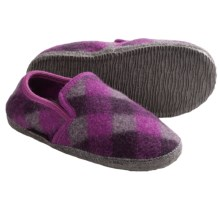 Giesswein Andau Slippers - Boiled Wool (For Women) in Grey Heather - Closeouts