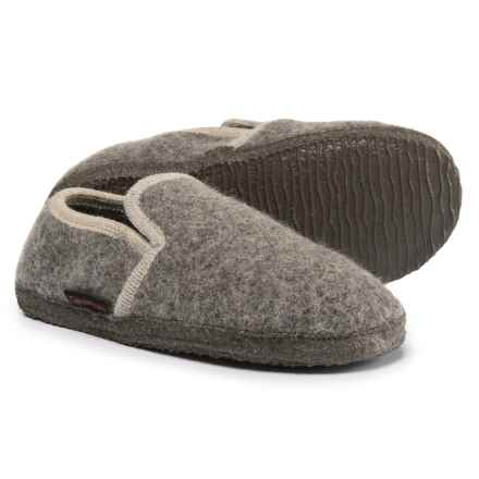Giesswein Andau Slippers - Boiled Wool (For Women) in Taupe - Closeouts