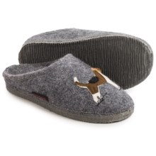 Giesswein Angelika Boiled Wool Slippers (For Women) in Slate - Closeouts