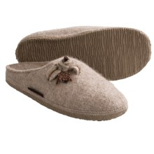 Giesswein Asten Slippers - Boiled Wool (For Women) in Natural - Closeouts