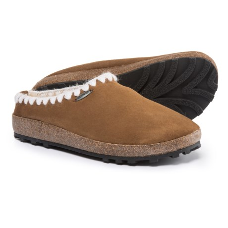 Giesswein Baxter Slippers - Leather (For Women) in Camel