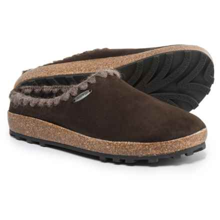 Giesswein Baxter Slippers - Leather (For Women) in Dark Brown - Closeouts