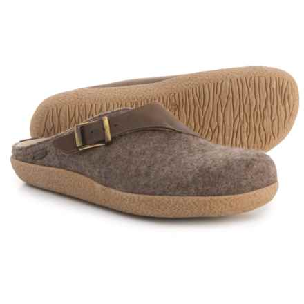 Giesswein Brixlegg Boiled Wool Clogs (For Men and Women) in Taupe - Closeouts