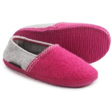 Giesswein Gretchen Boiled Wool Slippers (For Women) in Fuschia - Closeouts