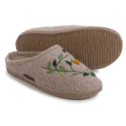 Giesswein Harpswell Boiled Wool Slippers (For Women) in Natural - Closeouts
