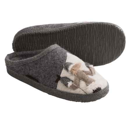 Giesswein Hartburg Slippers - Boiled Wool (For Women) in Grey Heather - Closeouts