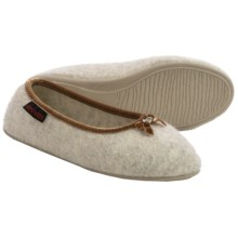 Giesswein Hohenau Slippers - Boiled Wool (For Women) in Beige - Closeouts