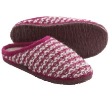 Giesswein Rosegg Slippers - Boiled Wool (For Women) in Berry - Closeouts