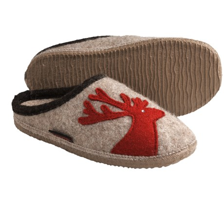 Giesswein Wels Slippers - Boiled Wool (For Women) in Natural