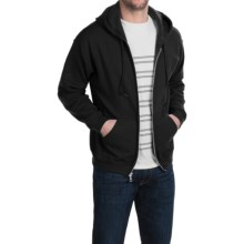 Gildan 50/50 Full-Zip Hoodie (For Men and Women) in Black - Closeouts
