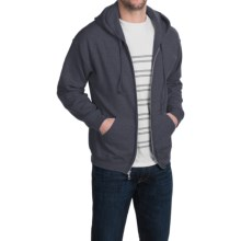 Gildan 50/50 Full-Zip Hoodie (For Men and Women) in Charcoal Heather - Closeouts