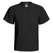 Gildan 50/50 Pocket T-Shirt - Short Sleeve (For Men and Women) in Black - 2nds