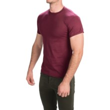 Gildan 50/50 T-Shirt - Short Sleeve (For Men and Women) in Wine - Closeouts