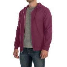 Gildan 7.5 oz. 50/50 Hoodie Sweatshirt - Zip (For Men and Women) in Wine - 2nds