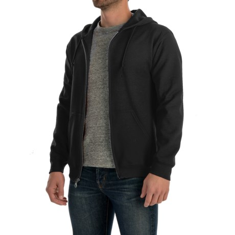 Gildan 7.5 oz. 50/50 Hoodie - Zip (For Men and Women) in Black
