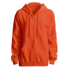 Gildan 7.5 oz. 50/50 Hoodie - Zip (For Men and Women) in Blaze Orange - 2nds