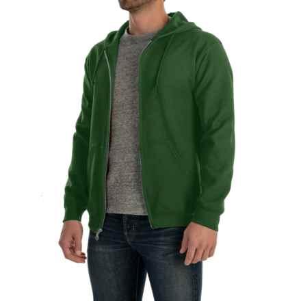 Gildan 7.5 oz. 50/50 Hoodie - Zip (For Men and Women) in Dark Green - 2nds