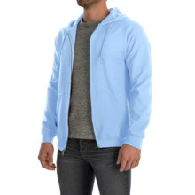Gildan 7.5 oz. 50/50 Hoodie - Zip (For Men and Women) in Light Blue - 2nds