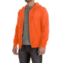 Gildan 7.5 oz. 50/50 Hoodie - Zip (For Men and Women) in Orange - 2nds