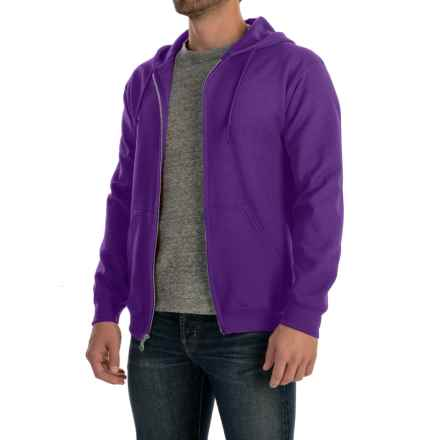 Gildan 7.5 oz. 50/50 Hoodie - Zip (For Men and Women) in Purple - 2nds