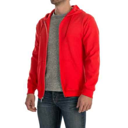 Gildan 7.5 oz. 50/50 Hoodie - Zip (For Men and Women) in Red - 2nds