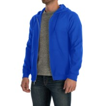 Gildan 7.5 oz. 50/50 Hoodie - Zip (For Men and Women) in Royal - 2nds