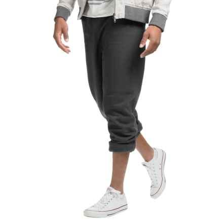 Gildan 7.75 oz. 50/50 Elastic Hem Heavyweight Sweatpants (For Men and Women) in Black - 2nds