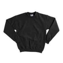 Gildan 7.75 oz. Cotton Sweatshirt - Crew Neck (For Youth) in Black - 2nds
