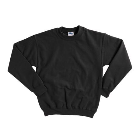 Gildan 7.75 oz. Cotton Sweatshirt - Crew Neck (For Youth) in Black
