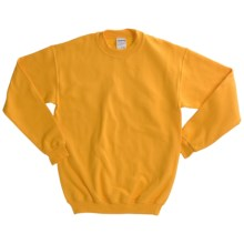 Gildan 7.75 oz. Cotton Sweatshirt - Crew Neck (For Youth) in Gold - 2nds