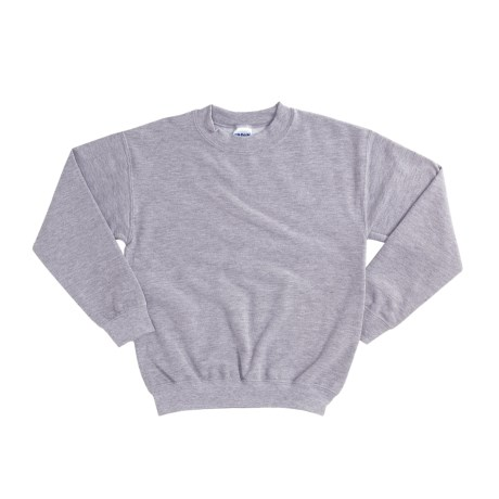 Gildan 7.75 oz. Cotton Sweatshirt - Crew Neck (For Youth) in Dark Green