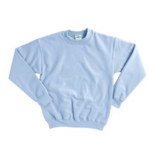 Gildan 7.75 oz. Cotton Sweatshirt - Crew Neck (For Youth) in Light Blue - 2nds